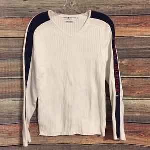 Tommy Hilfiger vintage ribbed v neck sweater
